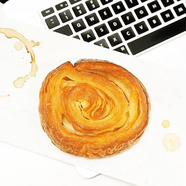 Kouign Amann [S$3.80] ・ @TiongBahruBakery's signature pastry with a cup of tea is just yums!