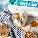 Yogurt Takeaway Box [S$19.00]・Sunflower Seeds | Sesame Seeds | Pear SauceEnjoying some @YoleSingapore original flavour yogurt in the comfort of my home.