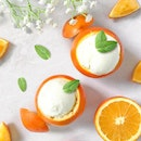Takeaway Yogurt Box [S$19.00]・So here's Part 2 of my dessert plan for New Year's Eve Party – @YoleSingapore original flavour yogurt in orange cups decorated with mint leaves!