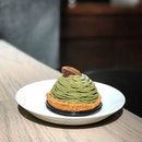 Matcha Mont Blanc [S$9.50] ・ Back at JW360° Cafe to try their Matcha Mont Blanc - Matcha Raspberry Pie & Pudding w Japanese Chestnut Paste.