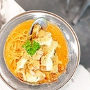 Weekday Lunch Set Promo [S$14.90] ・ Tom Yum Salted Egg Seafood Pasta   Soup of the day   Drink ・ Value for money portion that also tastes great makes @49Seats a lunch place worth recommending, especially when you need a quiet space to chill or chat.