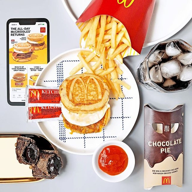 [PROMO] Starting tomorrow, McGriddles returns as an all-day item available in a la carte and Extra Value Meal!