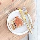 Pistachio Tiramisu [S$9.00] ・ *Throwback* Tart yet sweet tasting mascarpone overpowers the pistachio cream below it.