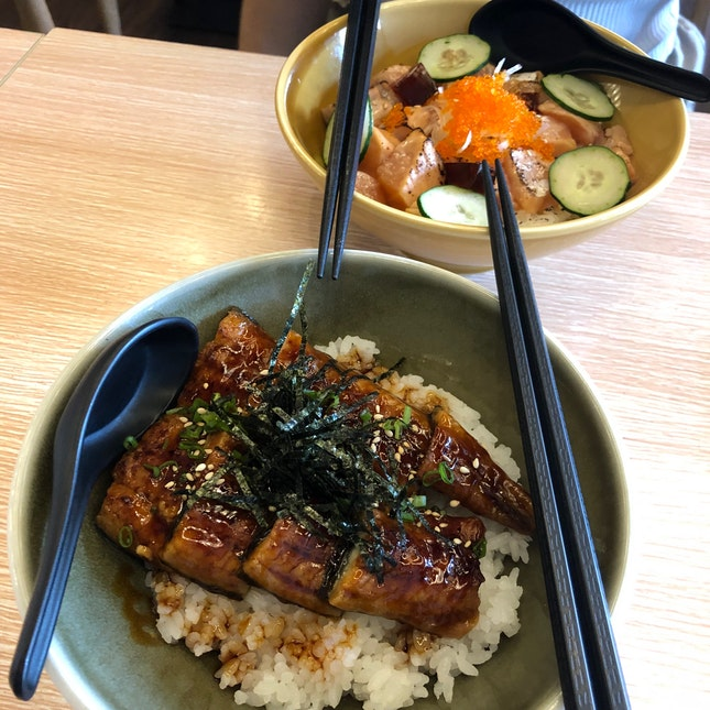 Unagi Don And Aburi Salmon Don