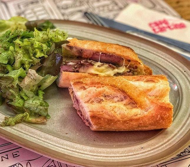 Pork Tenderloin Baguette : : #thailand #thai #bangkok #bkk #thaifood #food #foodie #foodies #burpple #foodporn #instafood #gourmet #foodstagram #yummy #yum #foodphotography #breakfast #pork #tenderloin #sandwich #baguette #monday #cafetartine