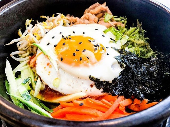 hot stone bibimbap .