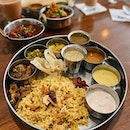 A hidden gem for an authentic Indian cuisine treat in a really cozy-warm setting; both indoor and outdoor •  Staying true to its cuisine, the Thali set is a must try & a signature - its bursting flavor from every side dish goes so well together with its fragrant briyani.