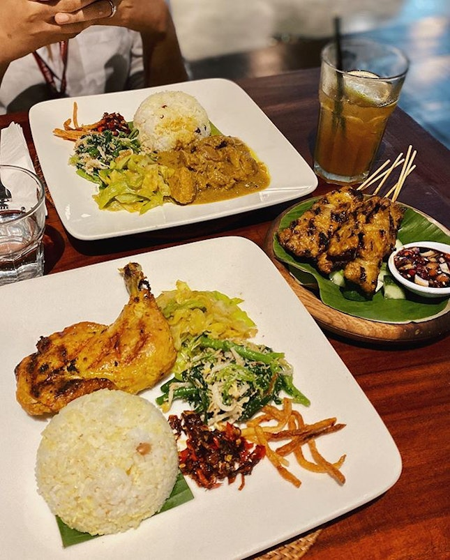 Gave my 2 cents about this non-halal Balinese place for dinner & sharing platter before and I'm still sticking by it •  Affordable lunch set, bringing Balinese recipe to live.