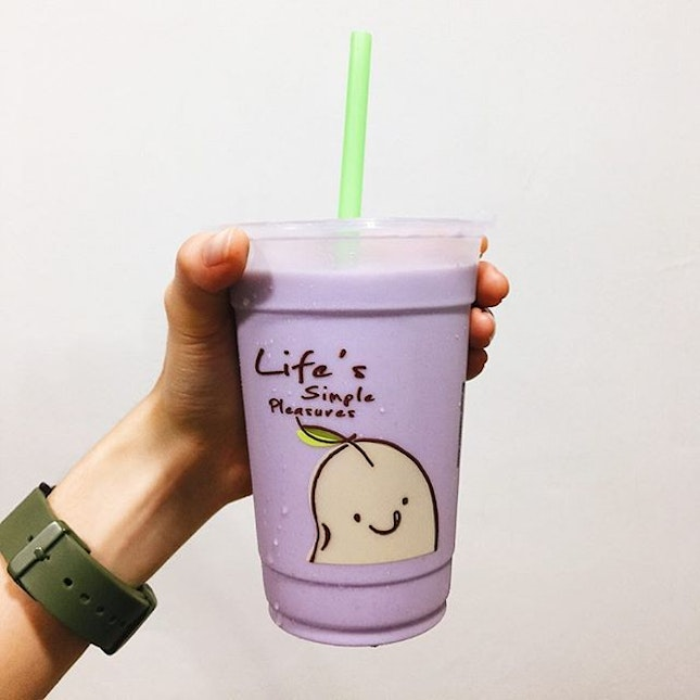 Pearly Taro Drink from @mrbeansg - $2.80 .