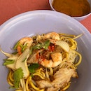 Dry Prawn Noodles With Soup