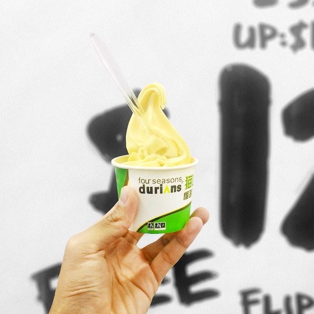 Durian Softserve ($3.50)