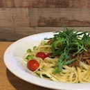 It is an Aglio Olio with Pulled Pork.