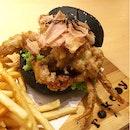Mentaiko Soft Shell Crab Burger