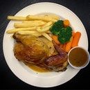 Roasted Half Chicken Set Meal