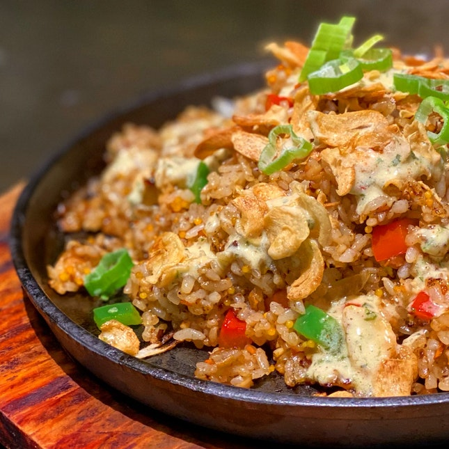 Garlic Sizzling Rice