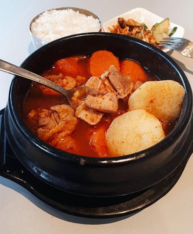 Korean chicken & potato stew 😍😋 #닭도리탕