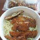 Chicken Cutlet Aglio Olio & Chicken Chop sent to my doorsteps via GrabFood.