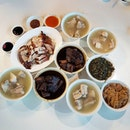 8🌟 / 10🌟 Yummy Bak Kut Teh, Braised Pork Trotters, Beancurd Skin and Salted Vegetable @ S$55.50 from Joo Siah Bak Koot Teh and a plate of Roasted Duck and Roasted Pork @ S$15 from Famous Hong Kong Roasted Duck Stall at Kai Xiang Food Centre