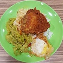 6🌟 / 10🌟 Nasi Padang consisting of Fried Chicken, Bitter Gould and Egg @ S$6 from Foodmaster Food Court at Fusionopolis Galaxis Level 2