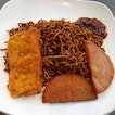 6🌟 / 10🌟 Noodles with Fried Chicken Cutlet and Luncheon Meat from Third Place Cafeteria at Mediacorp Campus