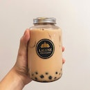 Nice and cheap Pearl Milk Tea in a bottle from 𝗟𝗮𝗹𝘂𝗻𝗲.