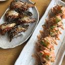 unagi roll, salmon roll