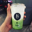 Half-drank: cheese green tea 🍵 from @living_botanica probably the best cheese tea I have tried thus far in Singapore.