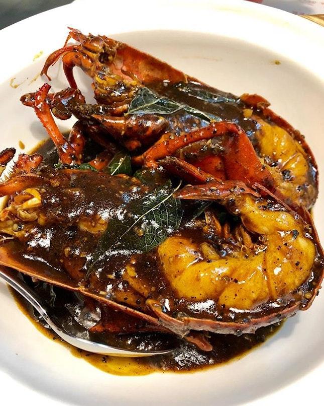 Black Pepper Lobster with Fried Mantou Buns ($58).