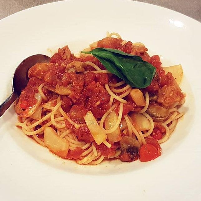 Chicken Pomodoro Spaghetti