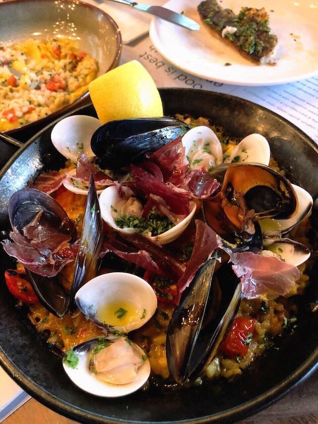 Seafood Paella ($29)