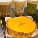 Cheese Tea And Freshly Baked Cheese Tarts