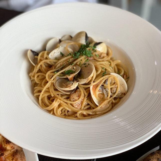 Spaghetti Vongole ($18)