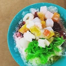 Red tea special shaved ice dessert- perfect for the hot scorching weather.