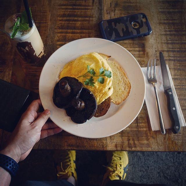 Satisfied my scrambled egg cravings at Ronin.