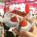 Sakura Matsuri Food Fair is back and I couldn't help but indulge in these wonderfully plump strawberry daifukus.