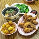 Normal Bak Koot Teh ($8), Paste Prawn Chicken Wing ($8)