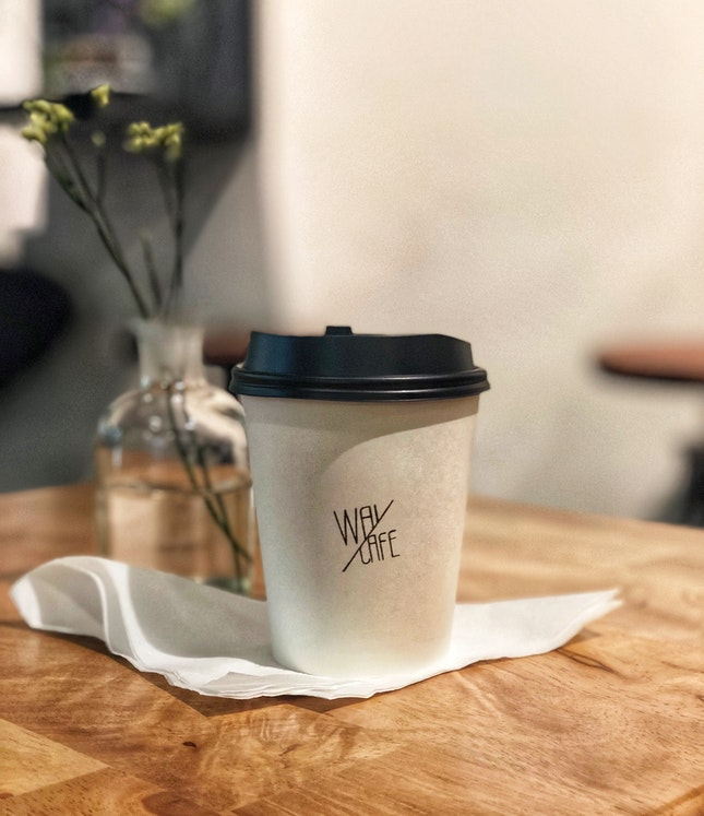 Flat White With Soy Milk ($5 + $1)