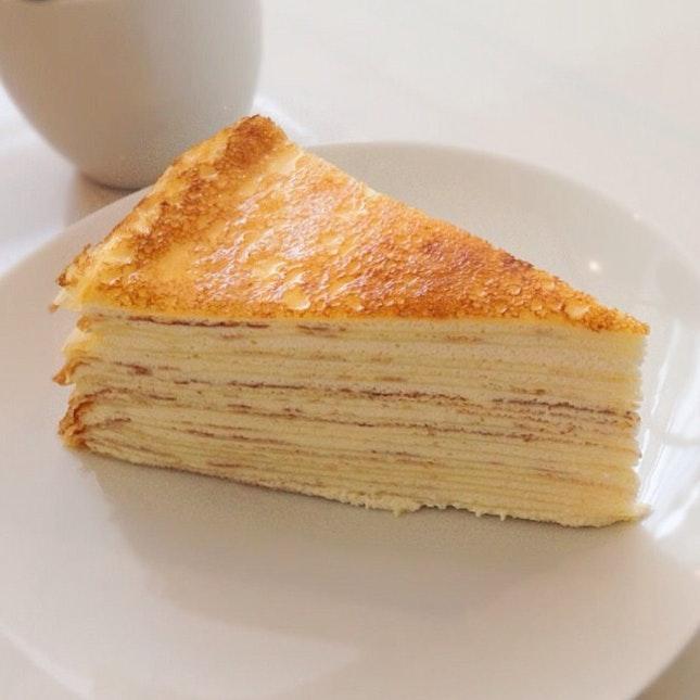 The signature vanilla Mille crepe.