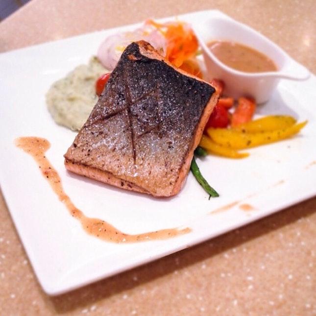 Pan seared salmon with Moro miso ($26).