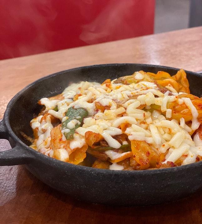 Chicken Galbi With Mozzarella