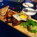 Beef ribs (❌heavily filtered pic❌) The waitress recommended me this item and upon hearing that it comes with a sunny side up, I told her..
