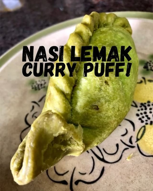 Nasi Lemak Curry Puff Ok, 1st it was Nasi Lemak Burger, now NL curry pok.