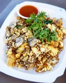 Oyster Omelette  Finally, it's the day we have been looking forward to..