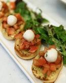 Bruschetta Loving this Chilled fresh tomato Bruschetta!