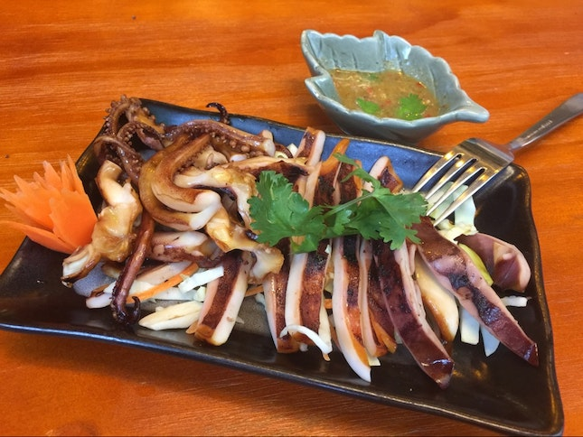BBQ In Correct Timing And Texture Is Important, This Is BBQ Smoke Flavour Squid 🐙