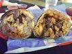 Breakfast burrito (left), California burrito (right) ($13.50)