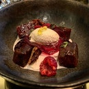 #burpple roasted beetroot - burratta horseradish ice cream artichoke walnuts