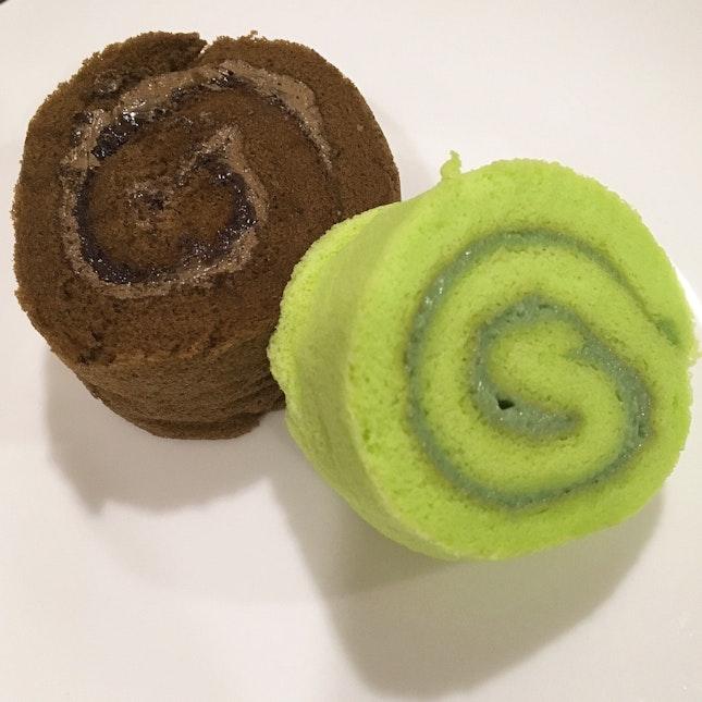 Chocolate & Kaya Swiss Rolls