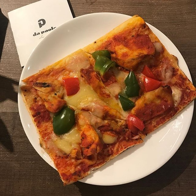 Grilled Chicken Pizza Slice .