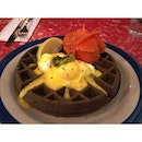 Nobody will say no to a squid ink waffle with smoked salmon and poached eggs.